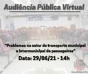 Audiência Pública Virtual vai debater situação do transporte coletivo de passageiros em Piraí