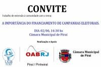 Legislativo de Piraí  - Financiamento de Campanhas Eleitorais