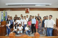 Parlamento Mirim empossa suplente de vereador e o novo Prefeito Mirim
